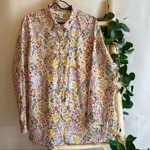 Old Navy Floral Classic Button Down XXL